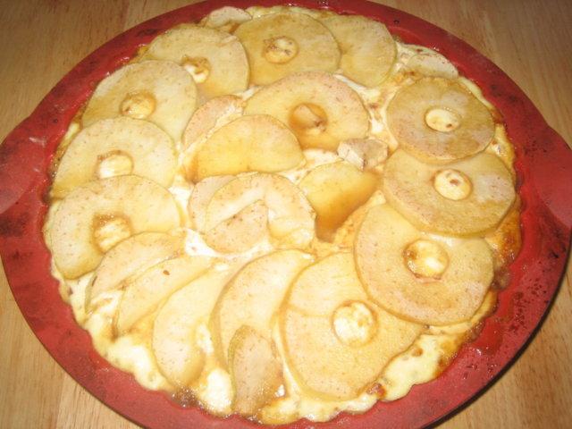 Reseptikuva: Päärynä-Rahkapiirakka 1