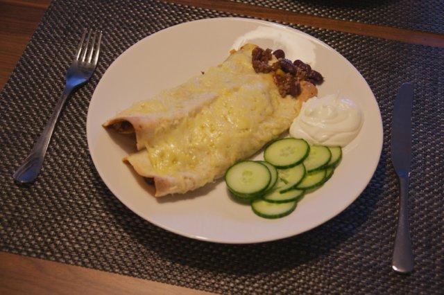 Burrito chili con carne -täytteellä 1