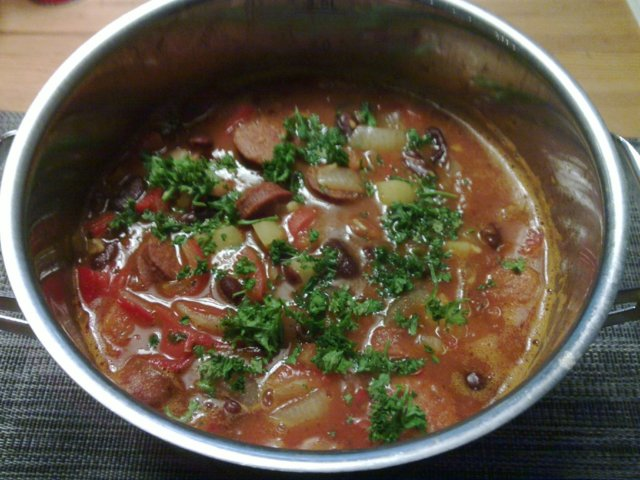Reseptikuva: Chorizo-makkarakeitto 1