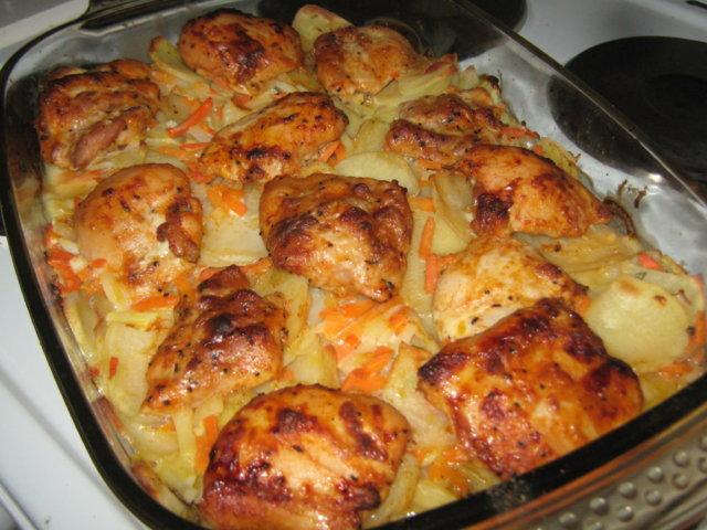 Broileria perunakasvispedillä 1