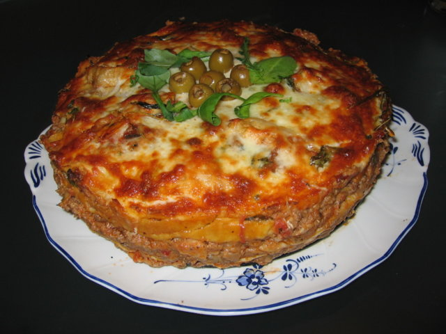 Ympyrälasagne karitsasta - Lasagne pasquali con ragù d'agnello e carciofi 1