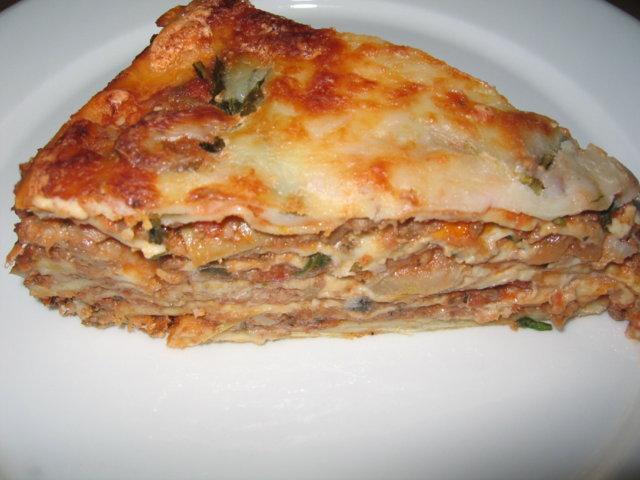 Ympyrälasagne karitsasta - Lasagne pasquali con ragù d'agnello e carciofi 2