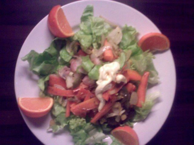 Tulinen salaatti 3