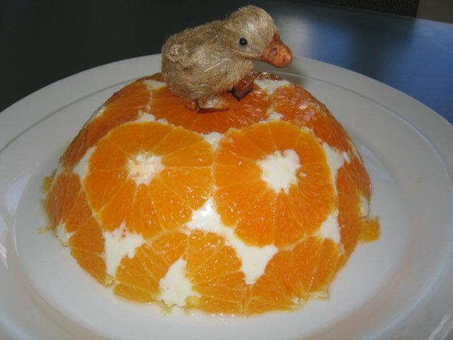 Valkosuklainen appelsiini-rahkahyytelö 1