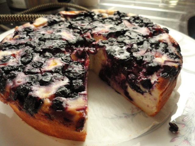 Reseptikuva: Super kevyt nektariini-mustikka juustokakku 1