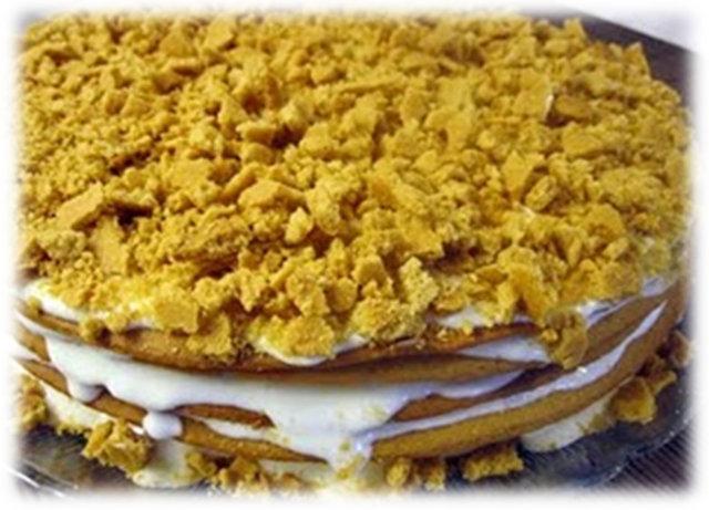 Reseptikuva: Marlenka eli hunajakakku 1
