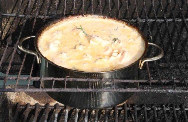 Kesäinen lohipata the grill