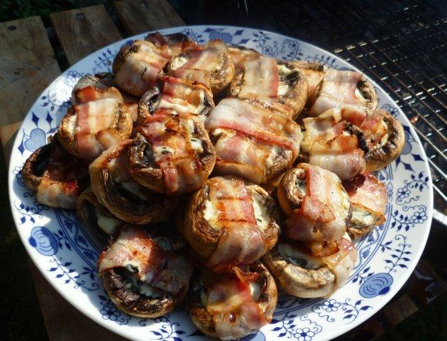 Grillatut herkkusienet