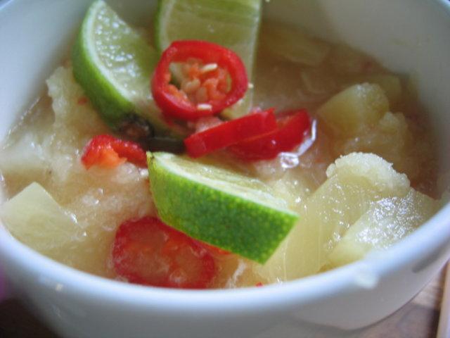 Ananas-limesalsa 1