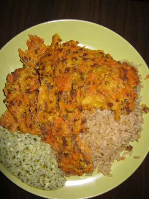 Porkkana-soijarouhepihvit pestokastikkeella 1