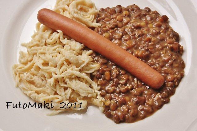 Linsen und Spätzle / Linssit ja pasta 1
