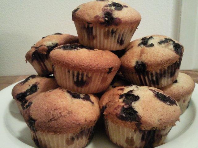 Reseptikuva: Mustikka-valkosuklaamuffinssit 1