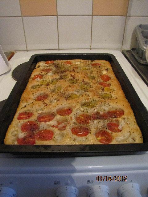 Reseptikuva: Italialainen leipä, focaccia 1