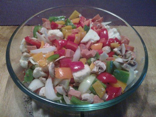 Chorizo-kasvisgratiini 2