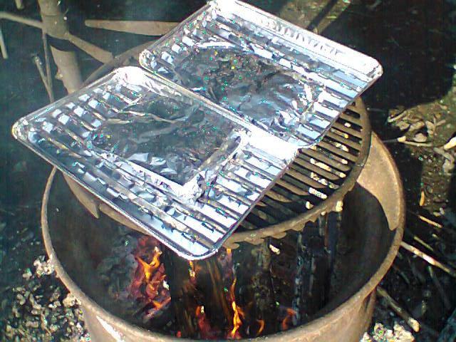 Lohta grillissä