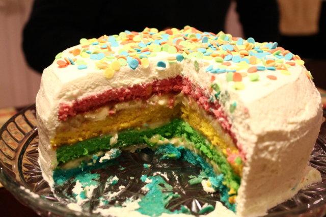 Sateenkaari kakku