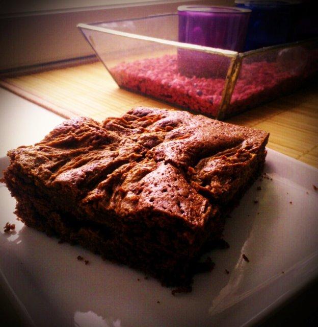 Reseptikuva: maapähkinävoi-brownies-palat 1