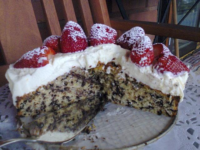 Suklaa Sitruuna Mansikka Kakku 1