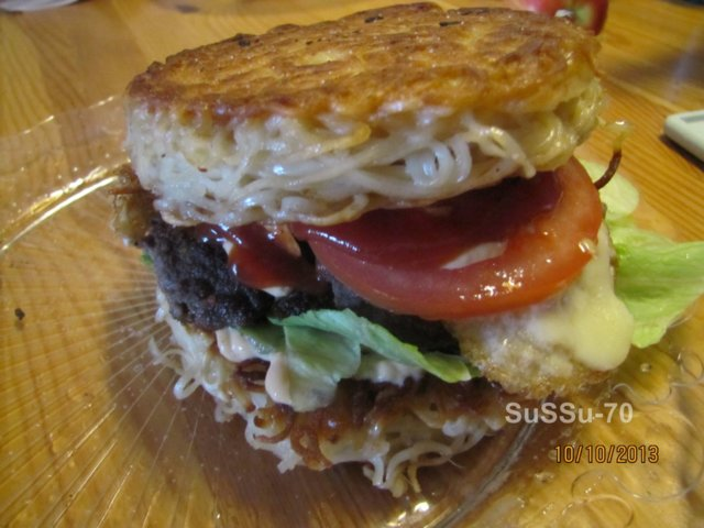 Reseptikuva: Ramen burger 1