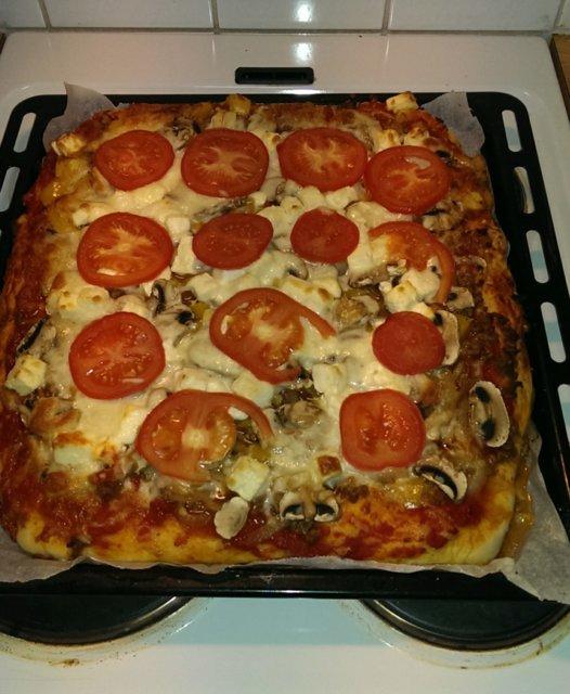 Reseptikuva: Jauheliha pitsa 1