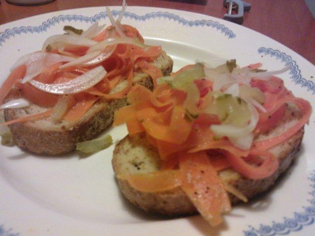 Porkkana voileipä
