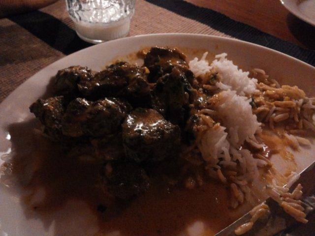 Intialainen Butter Lamb gravy 2