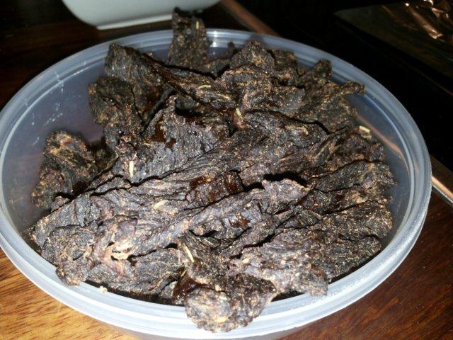 Mausteinen beef jerky eli kuivaliha