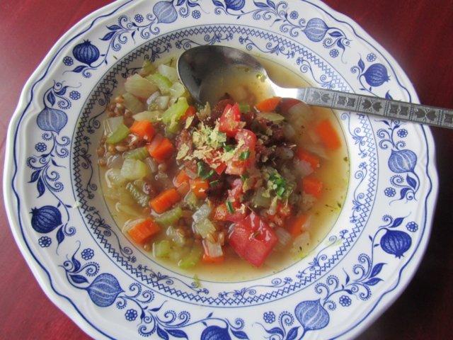 Reseptikuva: Vehnänjyväsoppa (veg) 1