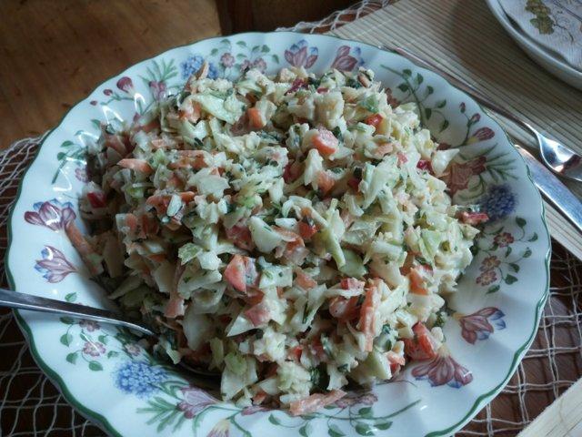 Amerikkalainen coleslaw pikku potkulla 1