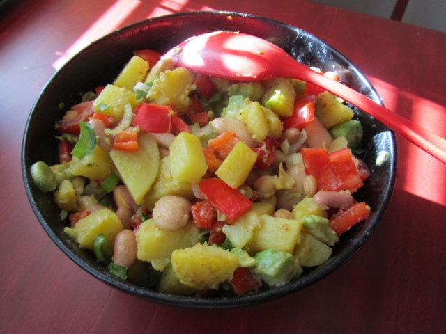 Meksikolainen perunasalaatti 1