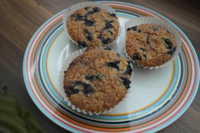 Herkullinen mustikkamuffini (munaton)