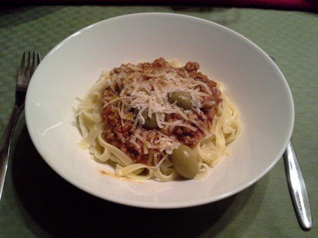 Reseptikuva: Äijän spaghettikastike 1