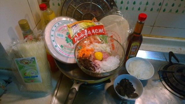 Vietnamilaiset Kevätkääryleet(Jauheliha/katkarapu) 9