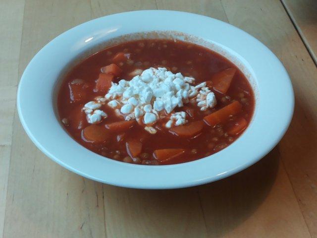 Linssi-porkkanakeitto, 4 annosta 1