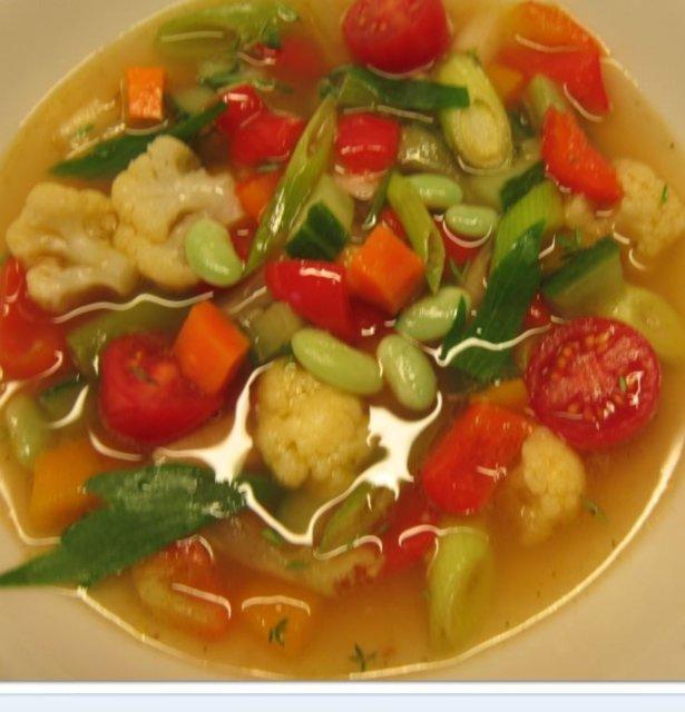 Reseptikuva: sadonkorjuun minestrone 1
