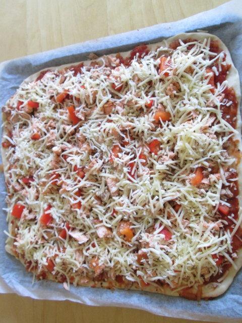 Herkullinen savulohi pizza