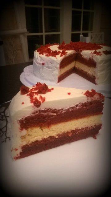 Red Velvet-juustokakku 1