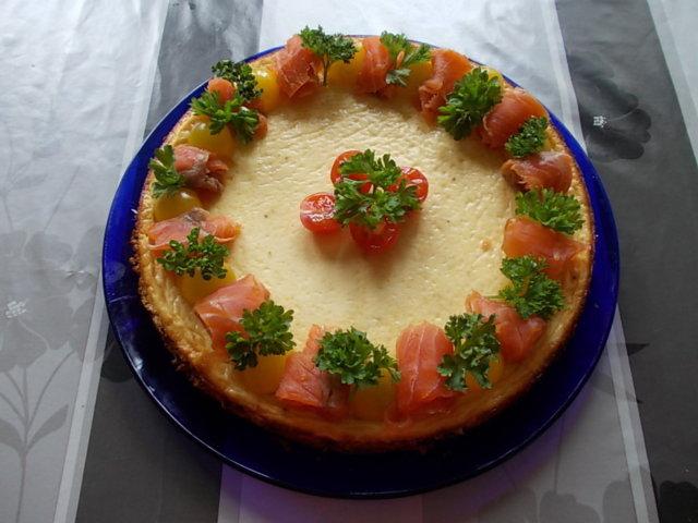 Paistettu Parmesaani juustokakku