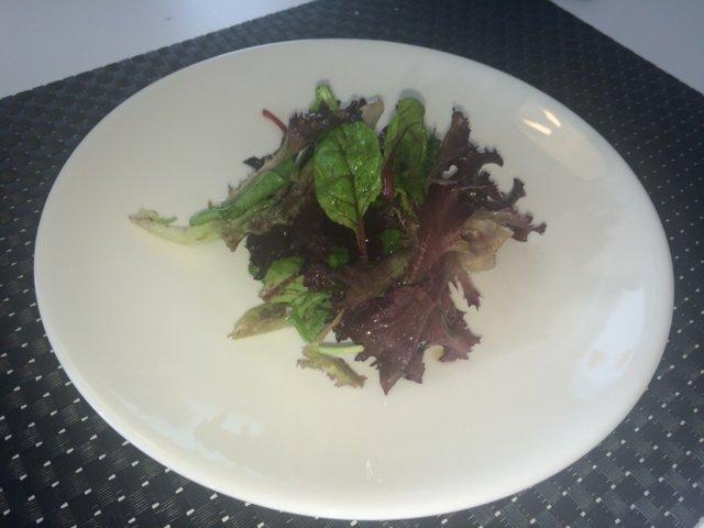 Kastike vihreälle salaatille (fine dining) 1