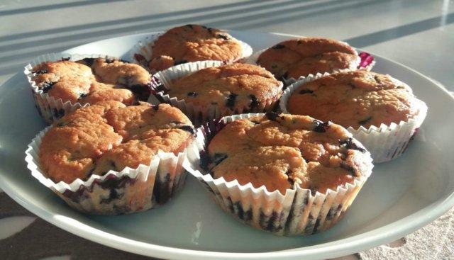 Reseptikuva: Mustikkamuffinit 1