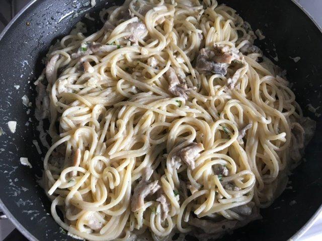 Spaghetti ai Fungi Pleurotus 2