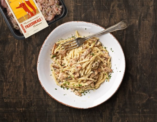 Maalaiskanan pasta carbonara