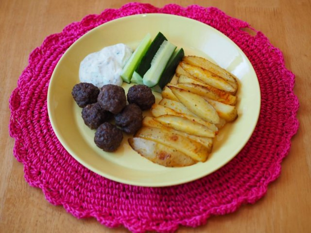 Reseptikuva: Lempeät lihapullat ja Ranch-ranskikset (gluteeniton) 1