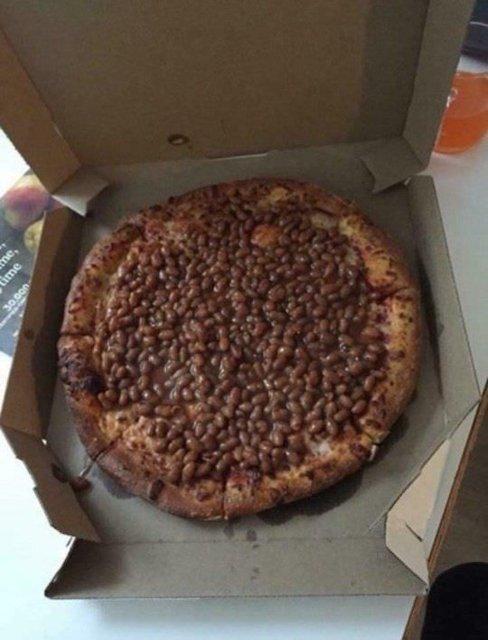 hyvää halvalla papu pizza