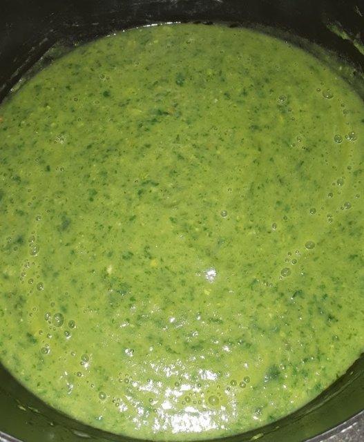 Rauhoittava vihreä keitto 2
