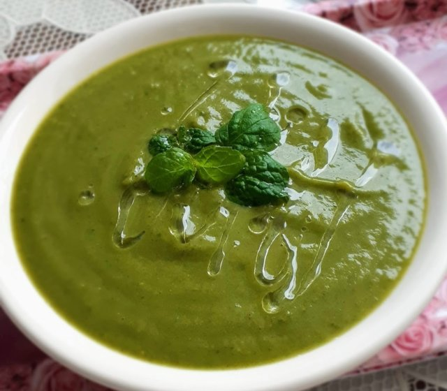 Rauhoittava vihreä keitto 1