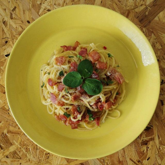 Reseptikuva: Tulinen valkosipuli pasta pekonilla 1