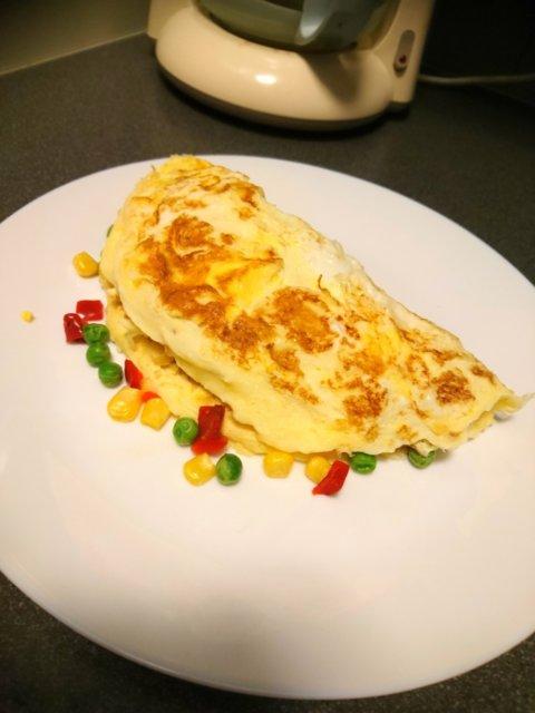 Reseptikuva: Opiskelijan omeletti 1