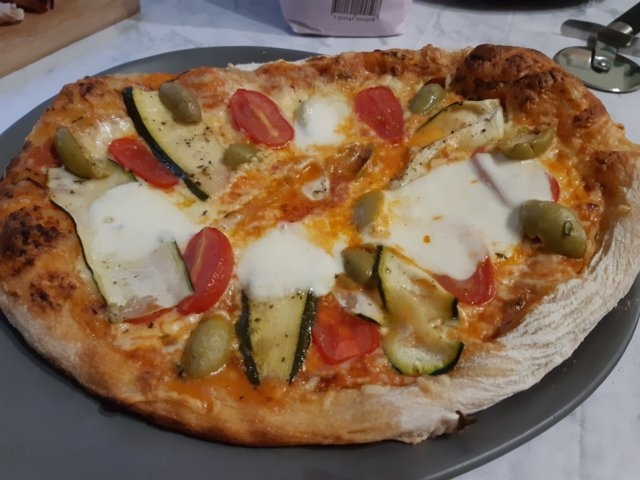 Reseptikuva: Grillattu pizza 25.7.2020 5