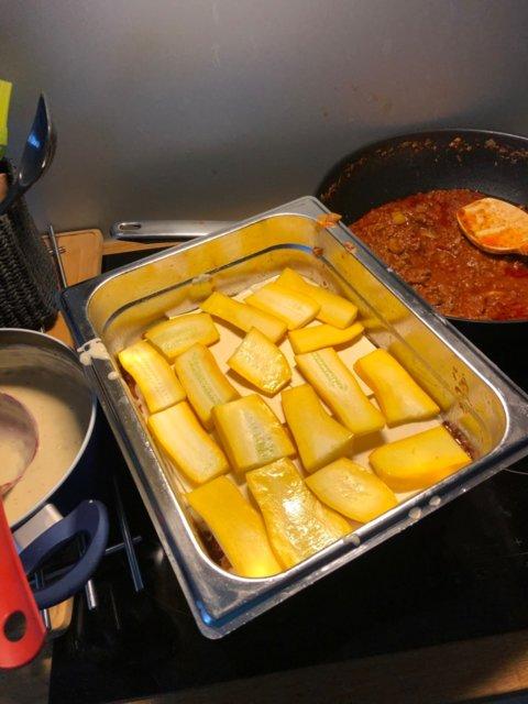 Reseptikuva: Lasagne kesäkurpitsalla ja juustoleivällä ISOLLE porukalle 2